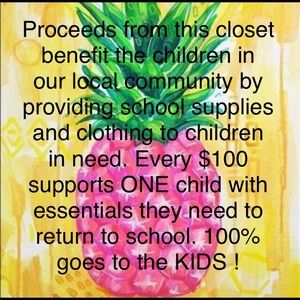 Other - 100% of sales go to kids in our community !